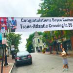 Banner across St. Gregory Street Mt. Adams